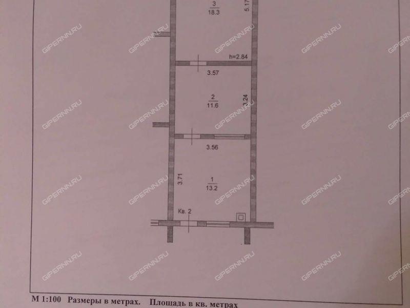 двухкомнатная квартира на улице Полевая дом 11 посёлок Комсомольский
