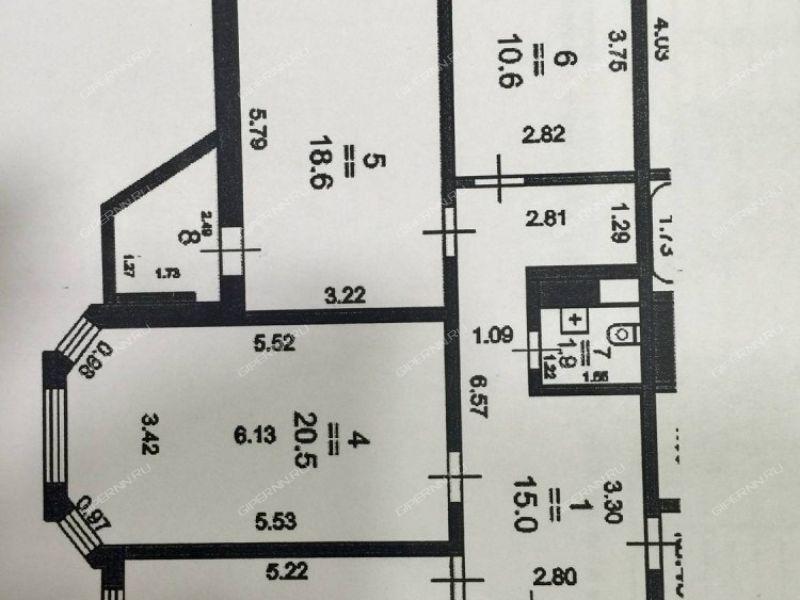 трёхкомнатная квартира на улице Цветочная дом 7 к1