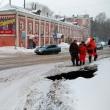 Возле знаменитых Ковалихинских бань в Нижнем Новгороде обвалился асфальт
